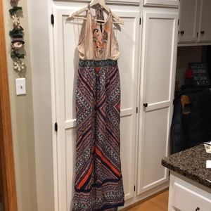 Flying Tomato Aztec Bohemian Halter Maxi Dress
